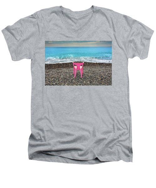 The Pink Chair Men's V-Neck T-Shirt