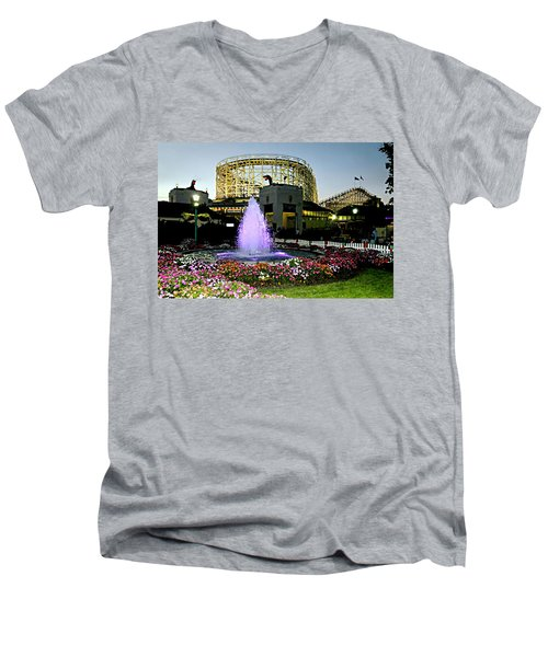 The Pink Fountain Men's V-Neck T-Shirt