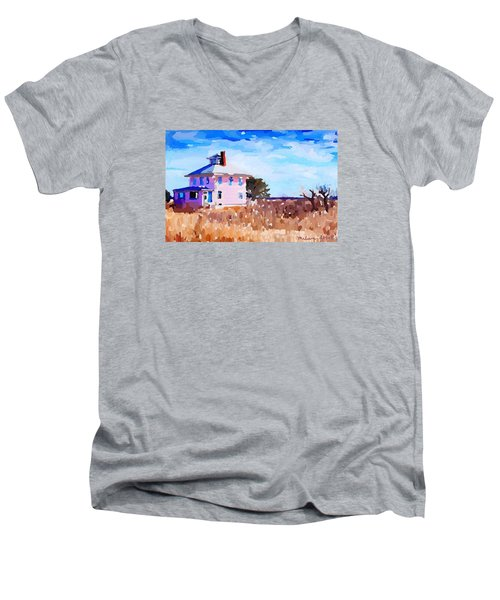The Pink House, Newburyport, Ma. Men's V-Neck T-Shirt