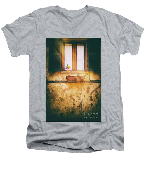 Men's V-Neck T-Shirt featuring the photograph The Pinwheel by Silvia Ganora