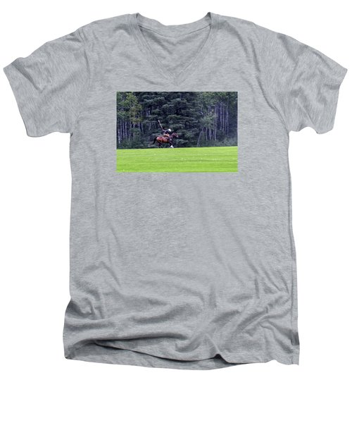 The Player Men's V-Neck T-Shirt by Keith Armstrong