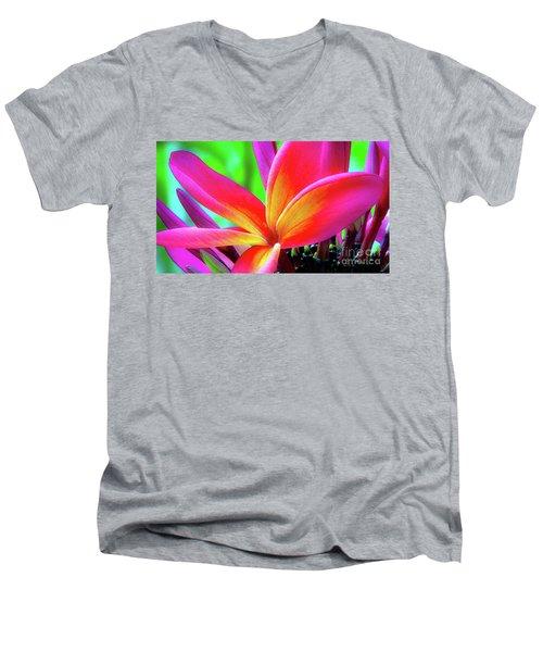 The Plumeria Flower Men's V-Neck T-Shirt