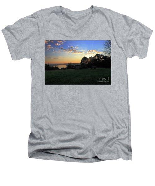 The Point At Sunrise Men's V-Neck T-Shirt