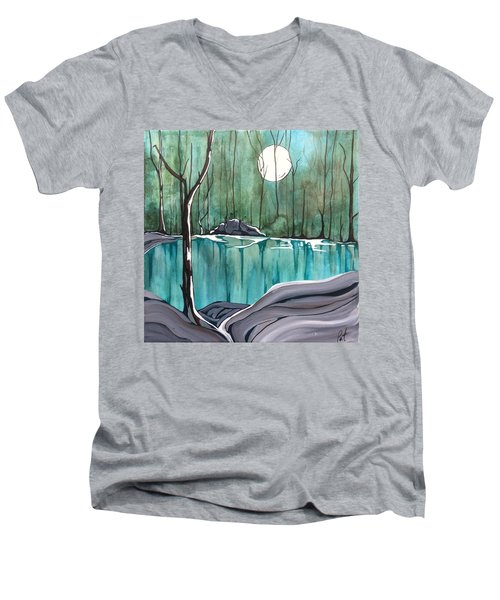 The Pond Men's V-Neck T-Shirt by Pat Purdy