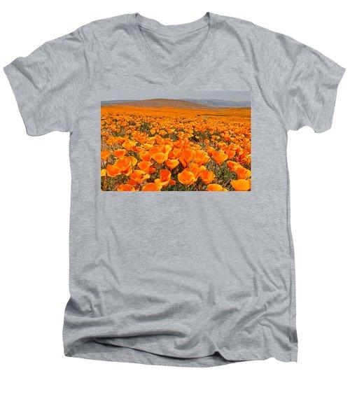 The Poppy Fields - Antelope Valley Men's V-Neck T-Shirt