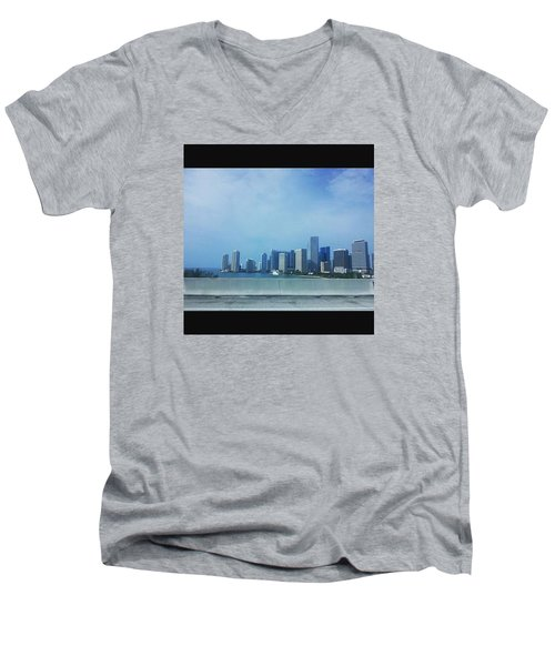 Miami Cityscape Men's V-Neck T-Shirt