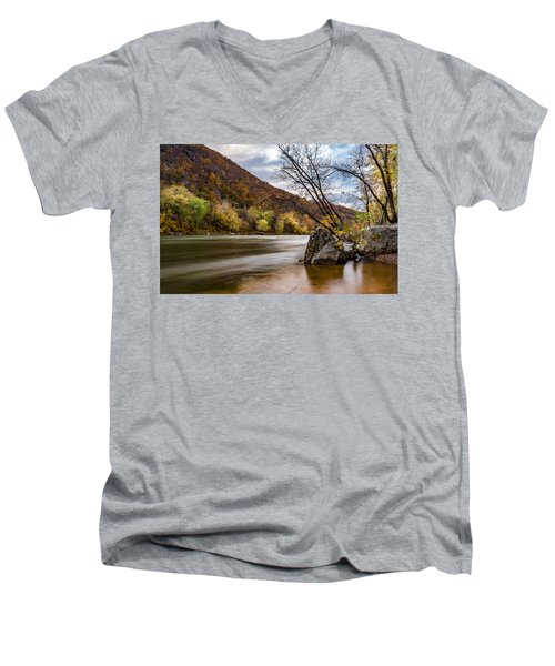 The Shenandoah In Autumn Men's V-Neck T-Shirt