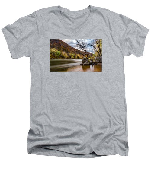 The Shenandoah In Autumn Men's V-Neck T-Shirt