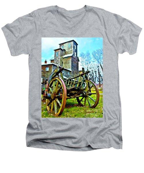 The Pottery - Bennington, Vt Men's V-Neck T-Shirt by Tom Cameron