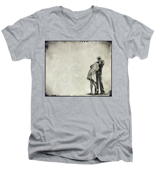 The Power Of A Kiss Men's V-Neck T-Shirt