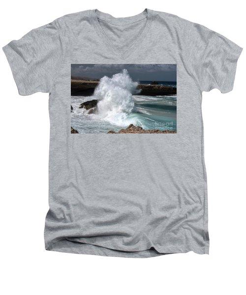 The Power Of The Sea Men's V-Neck T-Shirt