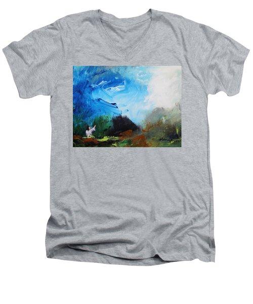 The Prayer In The Garden Men's V-Neck T-Shirt