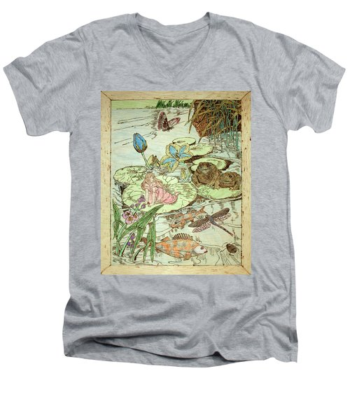 The Princess And The Frogs Men's V-Neck T-Shirt