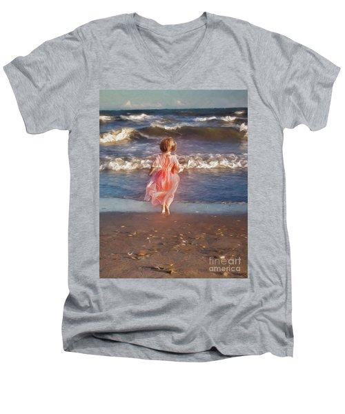 The Princess And The Sea Men's V-Neck T-Shirt