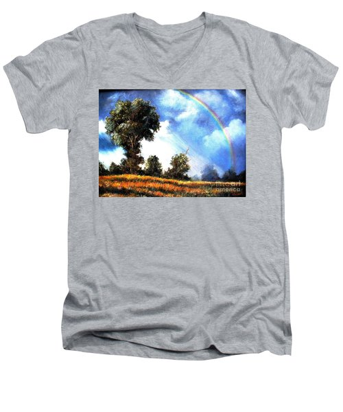 The Promise  Men's V-Neck T-Shirt by Hazel Holland