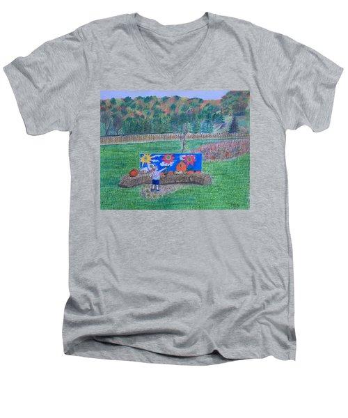 The Pumpkin Patch  Men's V-Neck T-Shirt