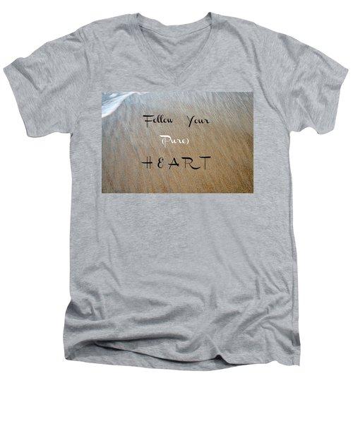 The Pure Heart Men's V-Neck T-Shirt