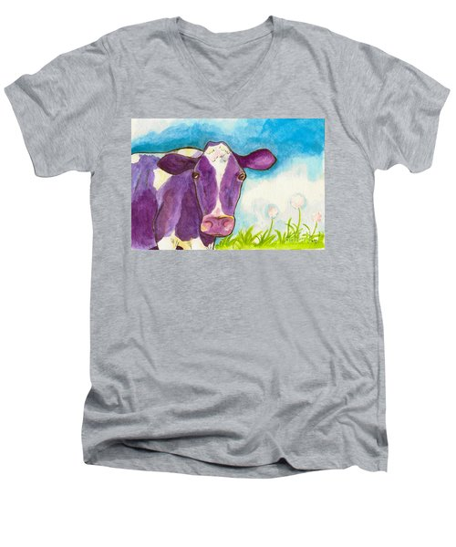 The Purple Cow Men's V-Neck T-Shirt