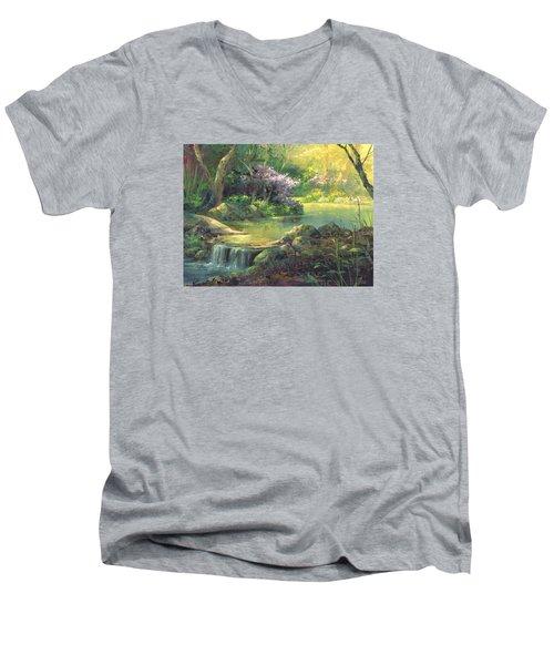 The Quiet Creek Men's V-Neck T-Shirt