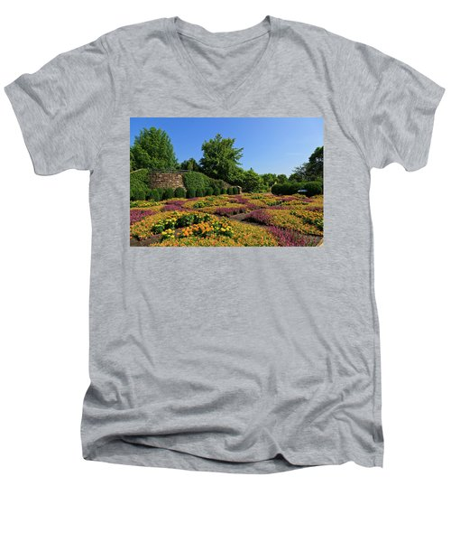 The Quilt Garden Men's V-Neck T-Shirt