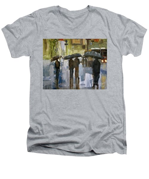 The Rain Came Men's V-Neck T-Shirt