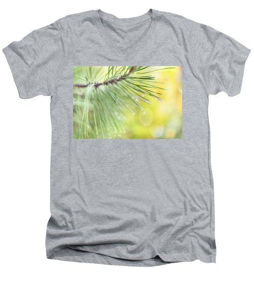 Men's V-Neck T-Shirt featuring the photograph The Rain The Park And Other Things by John Poon