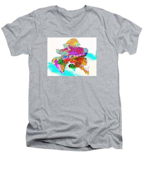 The Rainbow Iris Men's V-Neck T-Shirt