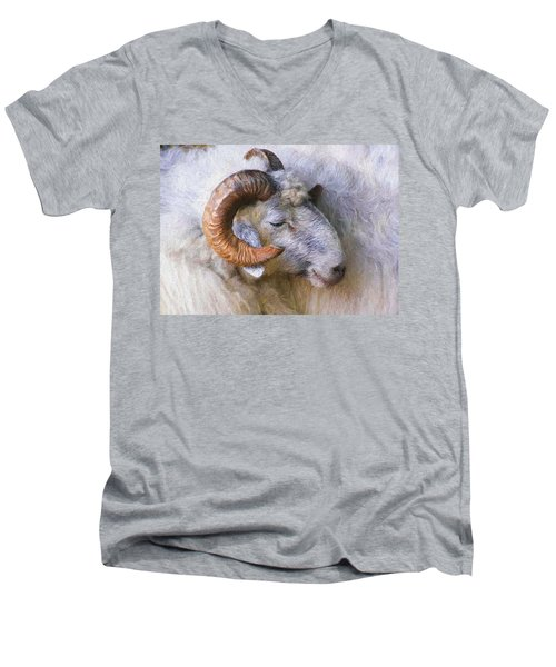 The Ram Men's V-Neck T-Shirt