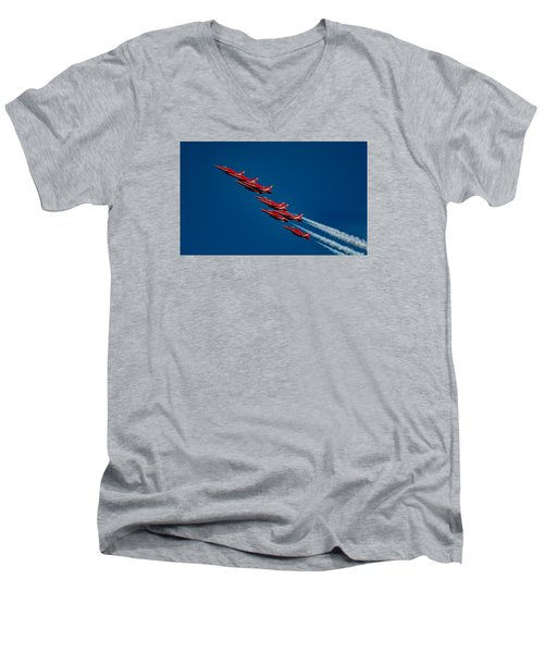 The Red Arrows Men's V-Neck T-Shirt