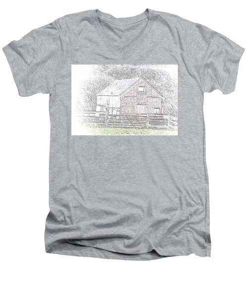 The Red Barn Men's V-Neck T-Shirt