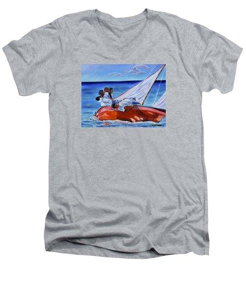 The Red Boat Men's V-Neck T-Shirt