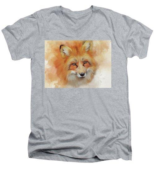 The Red Fox Men's V-Neck T-Shirt