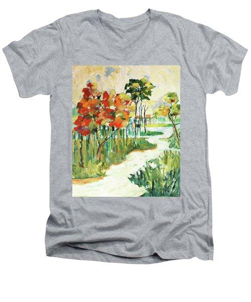The Redlands2 Men's V-Neck T-Shirt