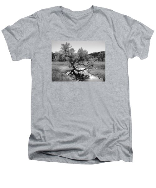 Eye Of The Stream Men's V-Neck T-Shirt