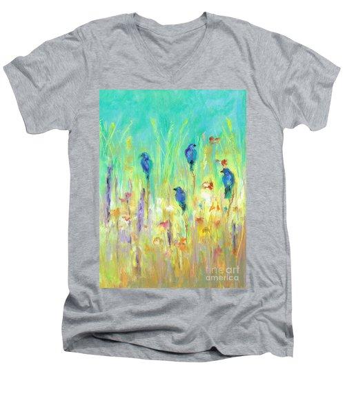 The Resting Place Men's V-Neck T-Shirt by Frances Marino