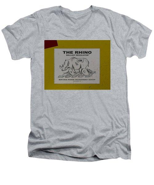 The Rhino Ballast Regulator Men's V-Neck T-Shirt
