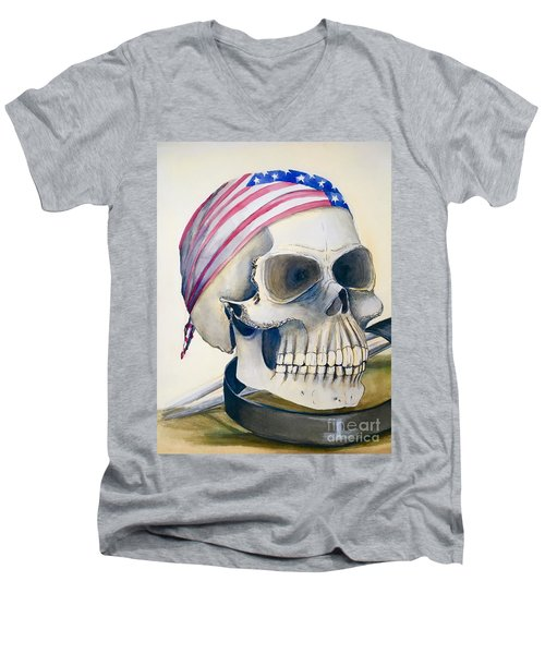 The Rider's Skull Men's V-Neck T-Shirt