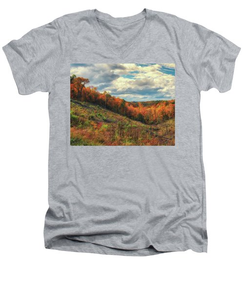 The Ridges Of Southern Ohio In Fall Men's V-Neck T-Shirt