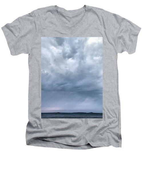Men's V-Neck T-Shirt featuring the photograph The Rising Storm by Jouko Lehto