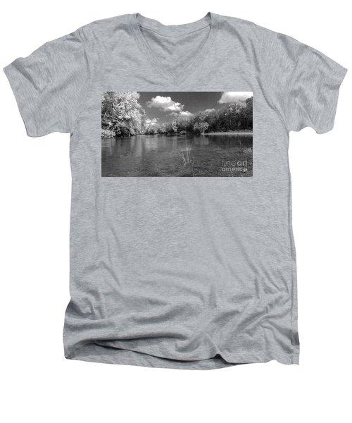 The Rivers Bend  Men's V-Neck T-Shirt by Scott D Van Osdol