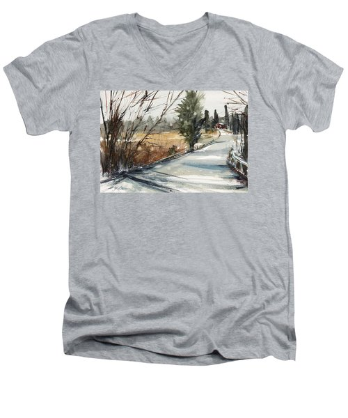 The Road Home Men's V-Neck T-Shirt by Judith Levins