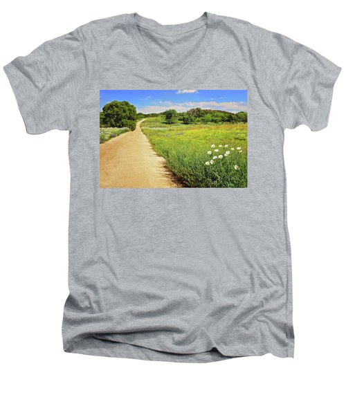 The Road Home Men's V-Neck T-Shirt by Lynn Bauer