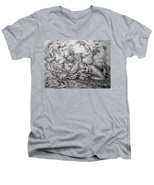 On The Road To Damascus Men's V-Neck T-Shirt