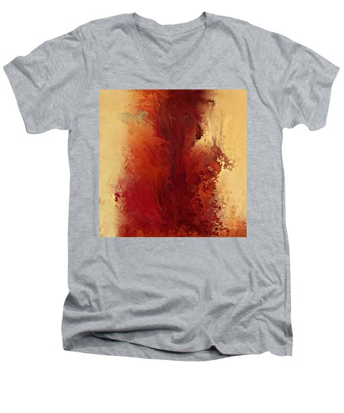 The Road To Emmaus. Luke 24 32 Men's V-Neck T-Shirt by Mark Lawrence