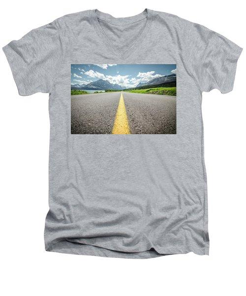 The Road To Glacier Men's V-Neck T-Shirt
