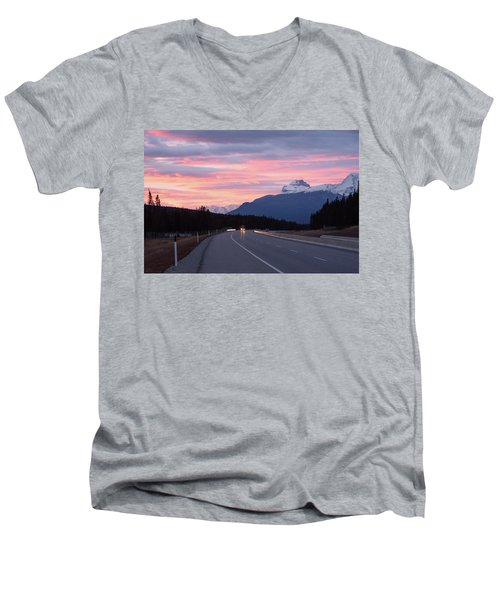 The Road Trip Men's V-Neck T-Shirt by Keith Boone