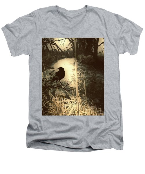 The Robin And The Wren Are Flown. Winter Crow Men's V-Neck T-Shirt