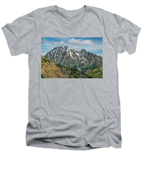 The Rock At Mount Stuart Men's V-Neck T-Shirt by Ken Stanback