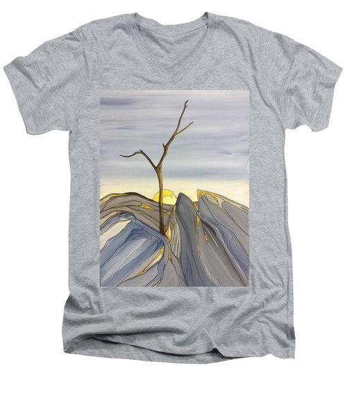 The Rock Garden Men's V-Neck T-Shirt by Pat Purdy