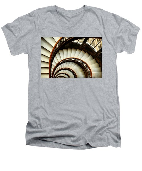 The Rookery Spiral Staircase Men's V-Neck T-Shirt